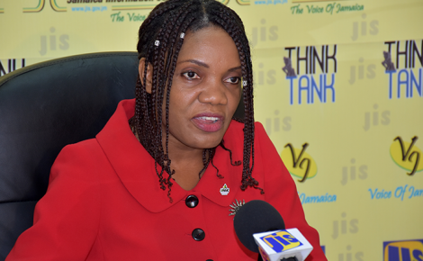 Chief Executive Officer of the Jamaica National Agency for Accreditation (JANAAC), Sharonmae Shirley, addressing a JIS Think Tank, at the agency's head office in Kingston, on Friday, June 3.