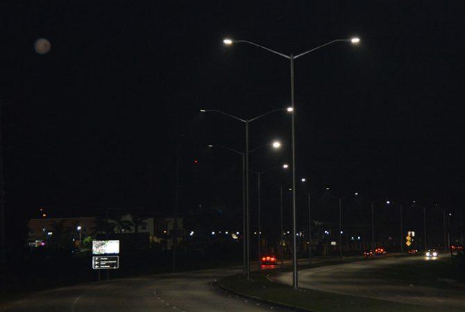 Lights Installed Along Mo Bay S Elegant Corridor Jamaica