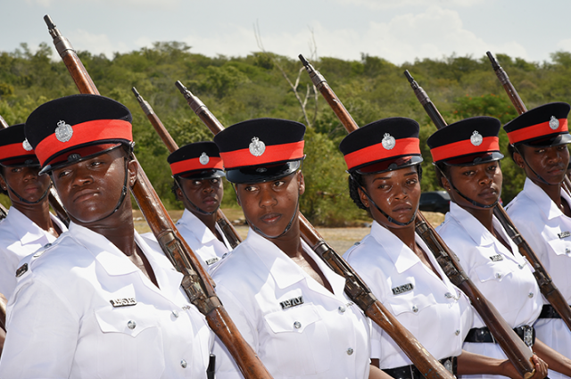 New police constables participate in a drill during a Passing Out Parade and Awards ceremony on Friday (September 1) at the National Police College of Jamaica at Twickenham Park in St. Catherine. A total of 199 constables comprising Batch 114, graduated during the ceremony.