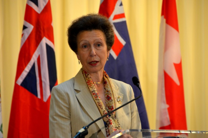 Her Royal Highness, Princess Royal, Princess Anne, addresses the closing ceremony of the Caribbean-Canada Emerging Leaders' Dialogue (CCELD), at the Pegasus Hotel on Friday (October 2).