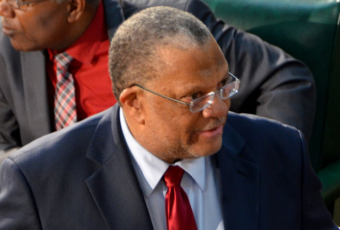 Minister of Finance and Planning, Dr. the Hon Peter Phillips, emphasizes a point while opening the 2014/15 Budget Debate in the House of Representatives on Thursday, April 17.
