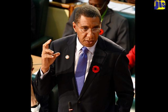 Prime Minister, the Most Hon. Andrew Holness.