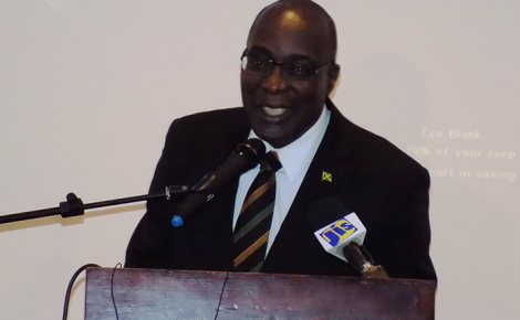Education, Youth and Information Minister, Senator the Hon. Ruel Reid, addresses the launch and inaugural conference of the National Association of Deans of Discipline (NADD), held at the Sunscape Resort in Montego Bay, St. James on Thursday, July 6.