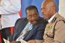 National Security Minister, Hon. Robert Montague (left), is in discussion with Police Commissioner, Dr. Carl Williams, at the graduation ceremony for 173 new police recruits held at the National Police College in St. Catherine on November 25.