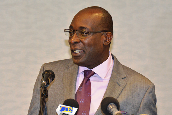 Minister of Education, Youth and Information, Senator the Hon. Ruel Reid, addresses Thursday's (Nov. 24) session of the 16th Annual Caribbean Bursars Conference at the Holiday Inn Resort in Montego Bay. The four-day event got underway on November 23 under the theme: 'Accountability … our responsibility.'