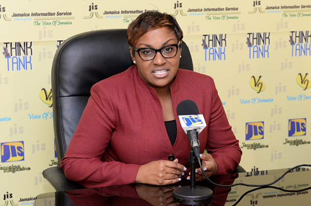 Deputy Food Storage Officer at the Food Storage and Prevention of Infestation Division (FSPID), Tamara Morrison, highlights the work of the entity in ensuring the safety and wholesomeness of food at a recent JIS Think Tank.