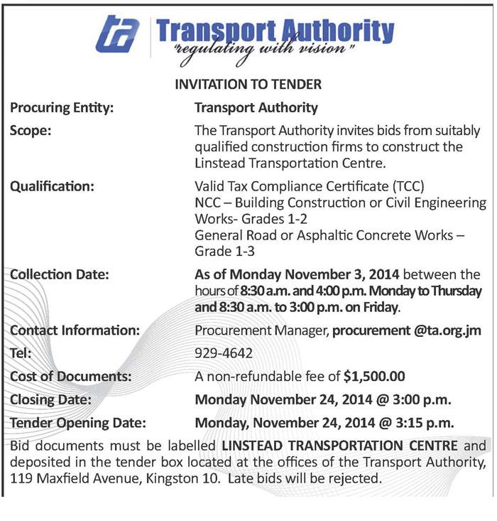 Transport authority jamaica information service transport authority stopboris Choice Image
