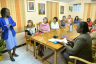 Spouses of diplomats visit a classroom at the Women's Centre of Jamaica Foundation (WCJF) during a tour of the facility in St. Andrew on February 8. They were accompanied by Executive Director of the WCJF, Dr. Zoe Simpson (2nd right). The visit of the spouses was part of activities for Diplomatic Week 2017, which runs from February 5 to 10 under the theme: 'Growth through Partnerships'.